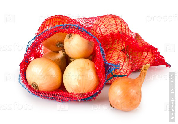 Сетка овощная 40*60см (до 20кг) с завязкой красная, мешок сетка