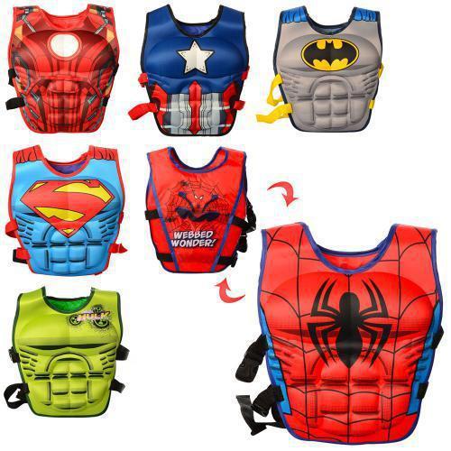 Детский надувной жилет (XJ-1-6) AV Супергерои, 6 видов