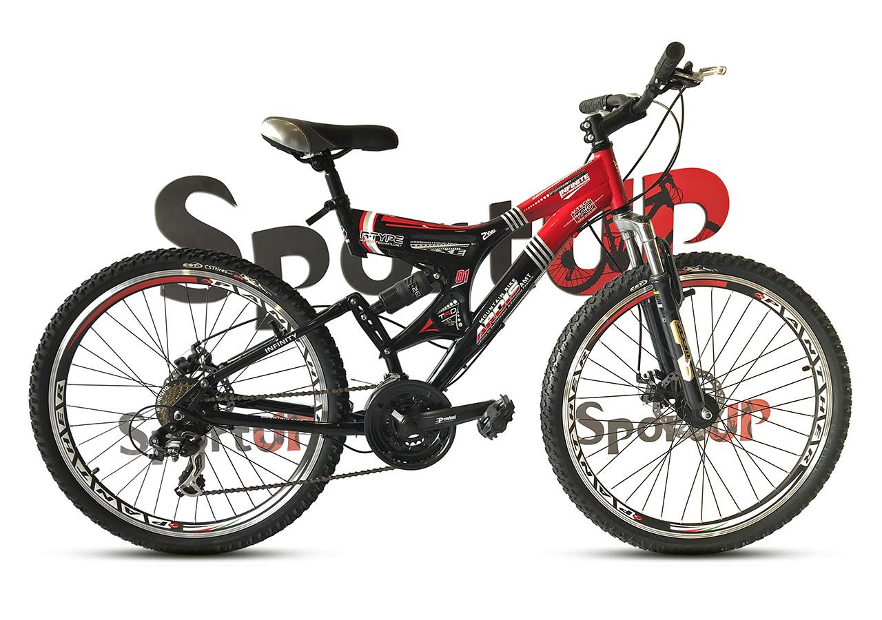 """Гірський велосипед ARDIS INFINITY AMT 26"""" 19"""" Чорний/Червоний"""