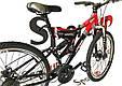 """Гірський велосипед ARDIS INFINITY AMT 26"""" 19"""" Чорний/Червоний, фото 4"""