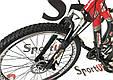 """Гірський велосипед ARDIS INFINITY AMT 26"""" 19"""" Чорний/Червоний, фото 5"""
