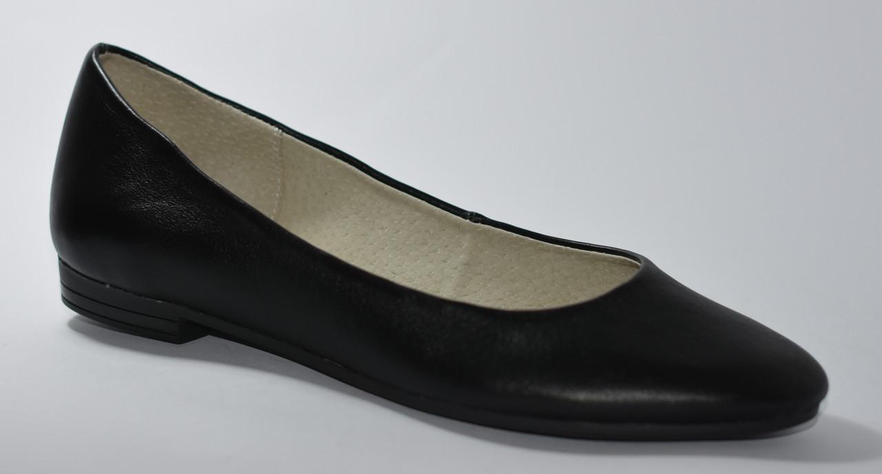 5b1b81b892d6 Балетки кожаные черные - купить по лучшей цене в Днепре от компании