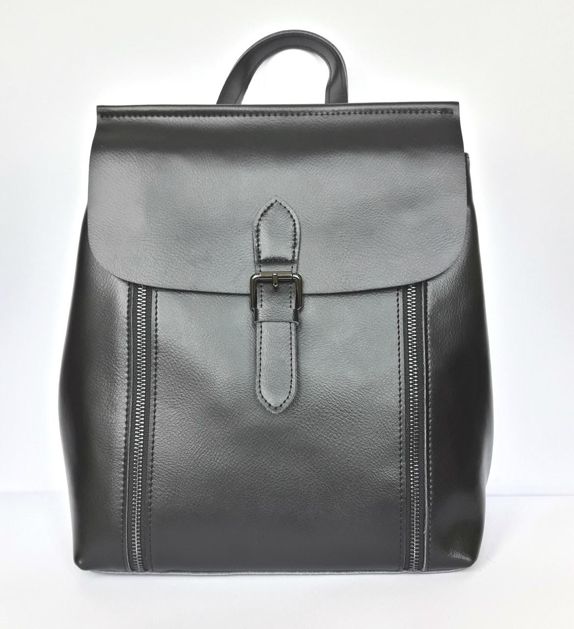 460afffe5950 Рюкзак женский Philipp 8632 кожаный 26х32х12 см Черный (20181116V-662)