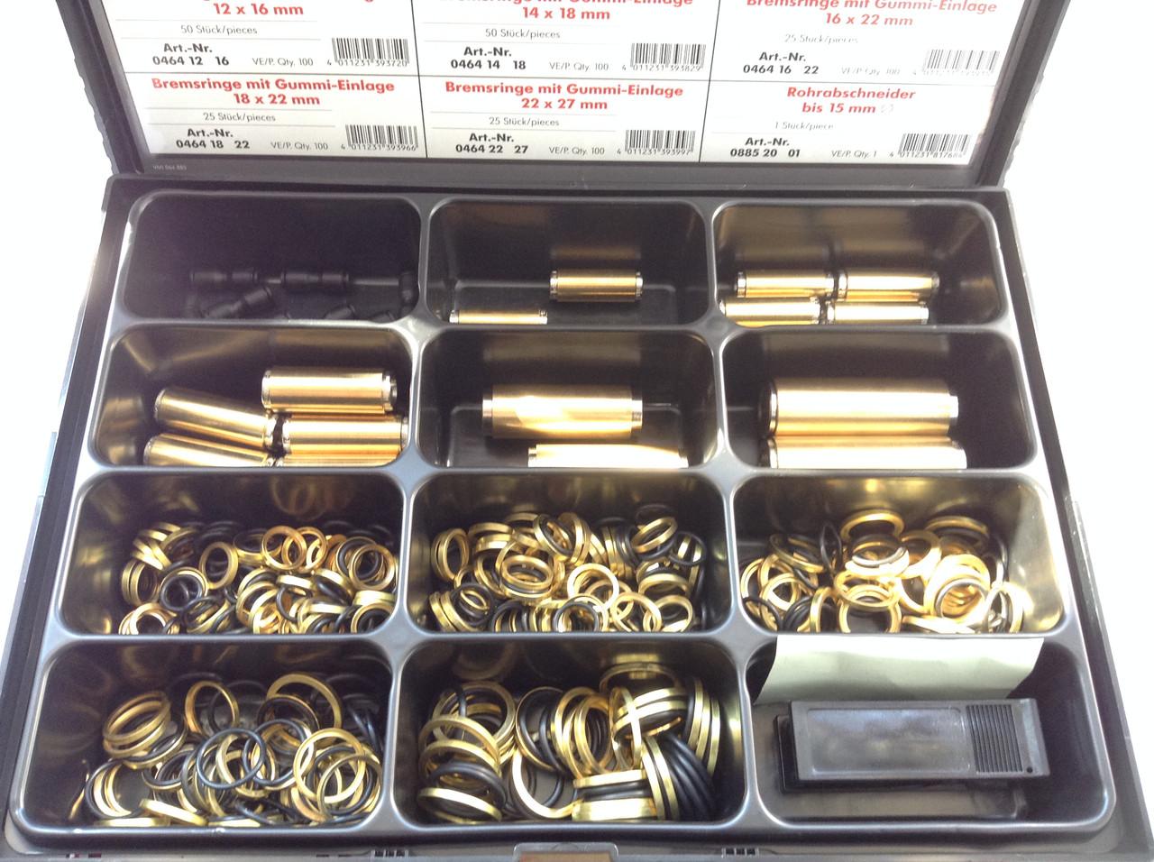 Комплект вставного быстроразъемного соединения и тормозного кольца