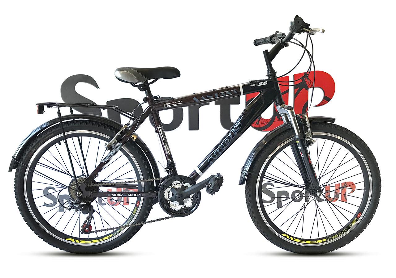 """Городской велосипед ARDIS SANTANA CTB 26"""" Черный/Коричневый"""