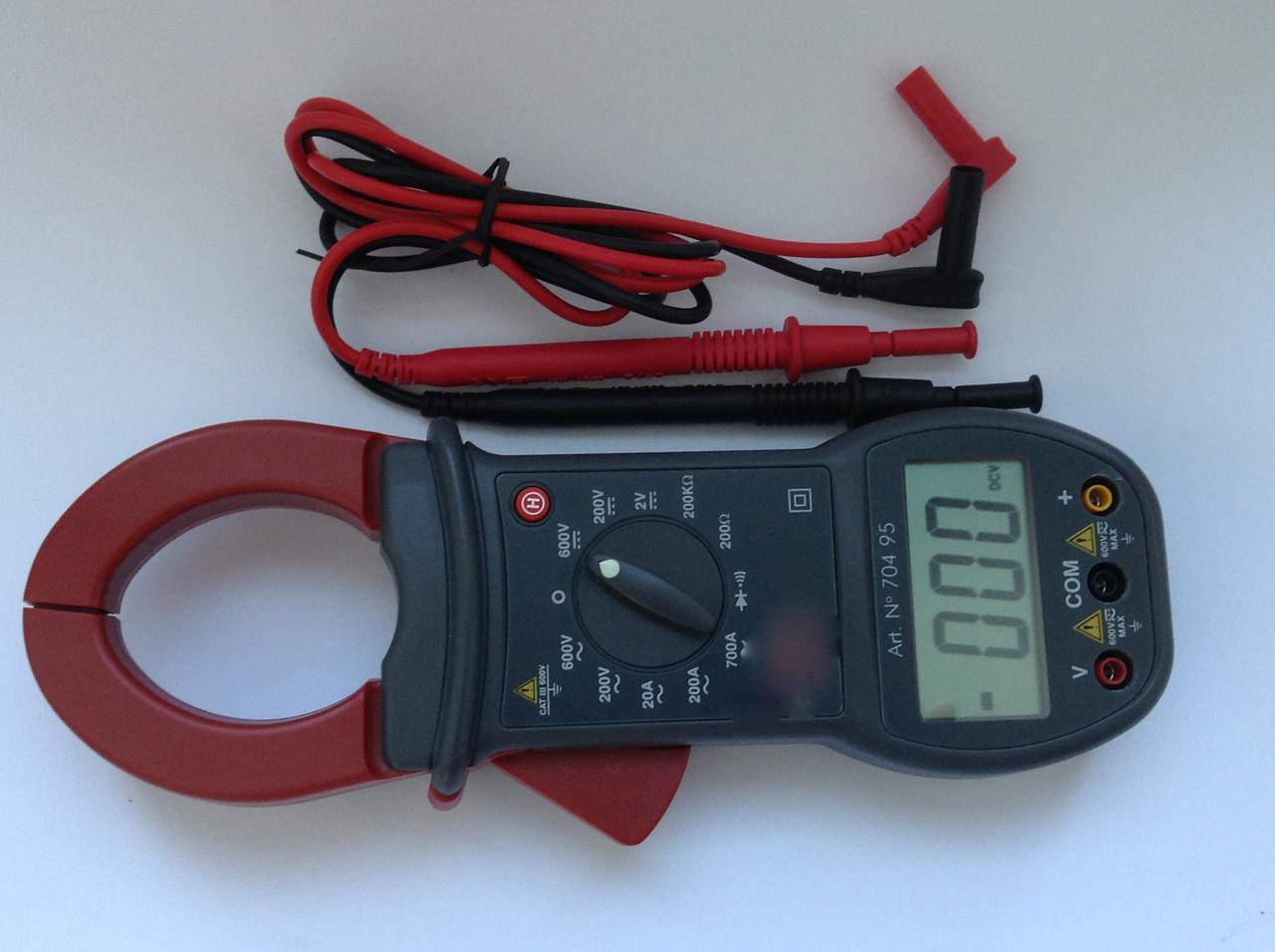 Клещи токоизмерительные 700А постоянный/переменный ток