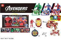 """Бластер SB392 """"Avengers"""" с присосками,герой+маска 4в.кор.54*25*9,5 /24/"""