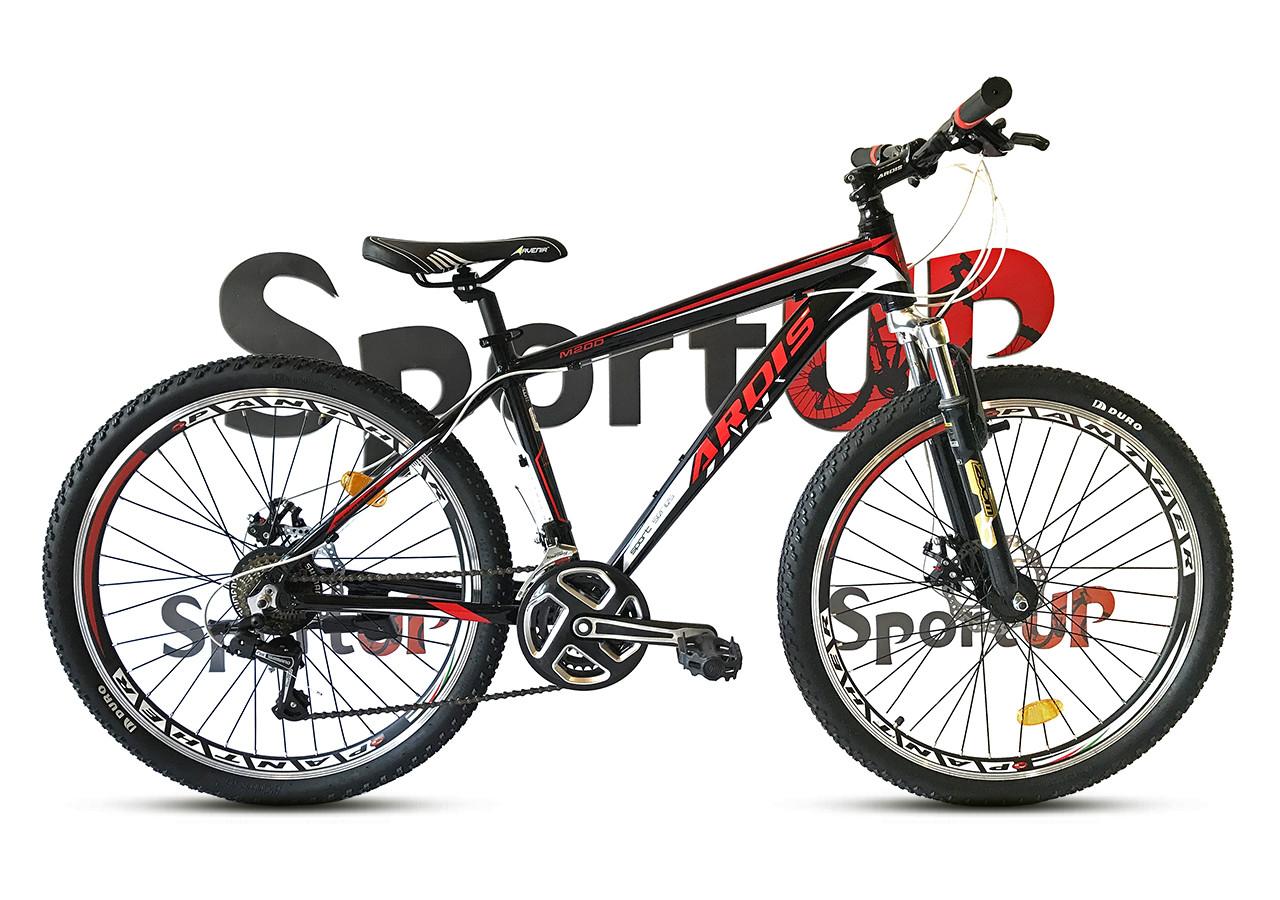 """Горный велосипед Ardis M20D R26"""" алюминиевый с дисковыми тормозами (Черно-красный)"""