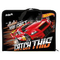 Портфель пластиковый на молнии Hot Wheels HW17-202 Kite, формат А4