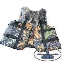 Страховочный жилет (спасательный) камуфляжный, 70-90 кг