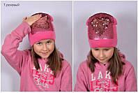 Шапка для девочек с пайетками, фото 1