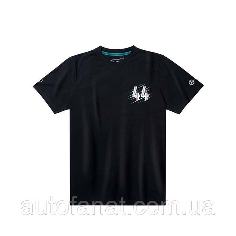 Оригинальная мужская футболка Mercedes F1 Men's T-Shirt, Lewis Hamilton, Black (B67995491)