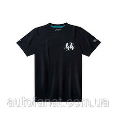 Мужская футболка Mercedes F1 Men's T-Shirt, Lewis Hamilton, Black
