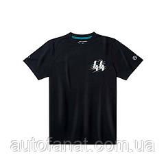 Мужская футболка Mercedes F1 Men's T-Shirt, Lewis Hamilton, Black