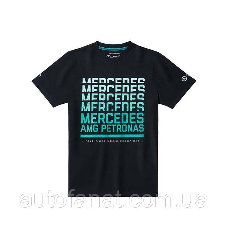 Оригинальная футболка мужская Mercedes AMG Petronas Motorsport T-Shirt, Men's, Black (B67996053)