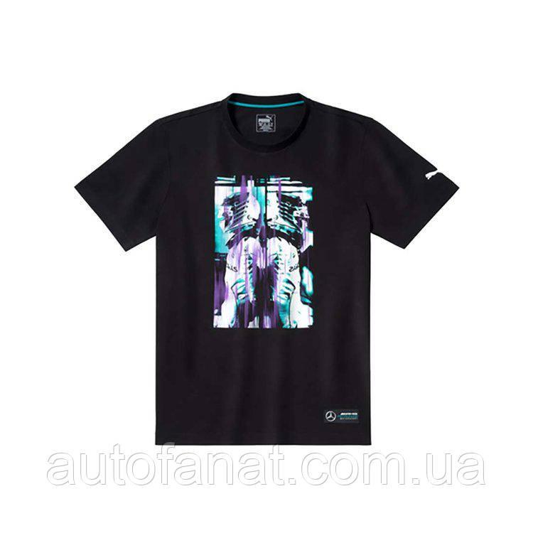 Оригинальная мужская футболка Mercedes AMG Petronas Motorsport Pilot T-Shirt, Men's, Black (B67995437)
