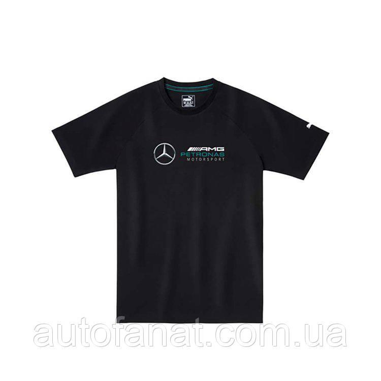 Оригинальная мужская футболка Mercedes AMG Petronas Motorsport Logo T-Shirt, Men's, Black (B67995431)