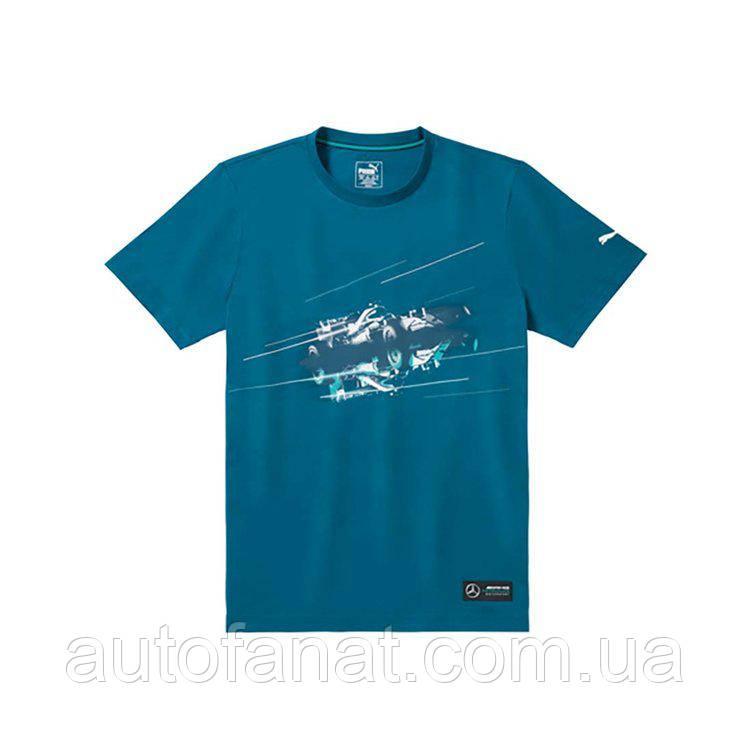 Оригинальная мужская футболка Mercedes AMG Petronas Motorsport T-Shirt, Men's, Blue (B67995449)