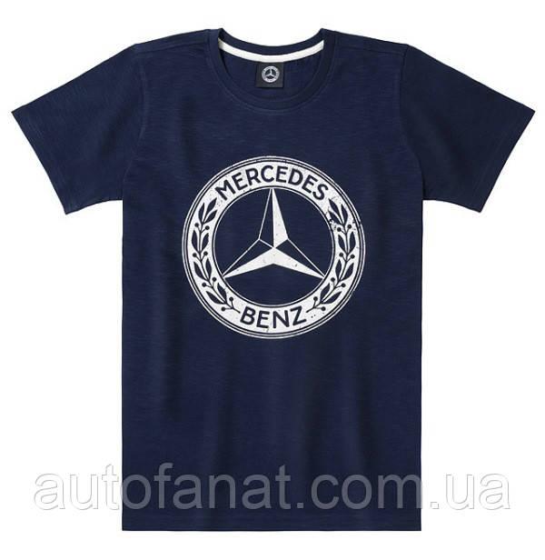 Оригинальная мужская футболка Mercedes Men's T-shirt, Navy Blue, Classic (B66041551)