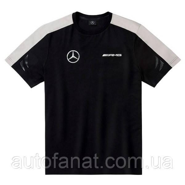 Оригинальная мужская футболка Mercedes Men's T-shirt, AMG DTM, Black/White/Grey (B67995271)