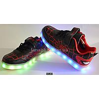 Детские светящиеся кроссовки, USB, 32-37 размер, 11 режимов LED подсветки, супинатор