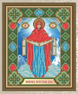 Набор алмазной живописи 24,6х20см - икона Покрова Образ Пресвятой Богородицы