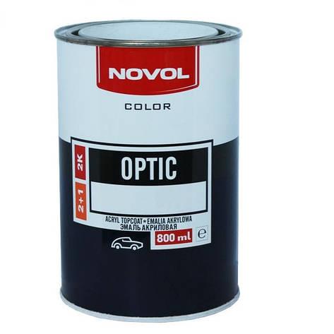 1027 Снежнобелая  NOVOL Optic Автоэмаль акриловая 2K 0.8л., фото 2