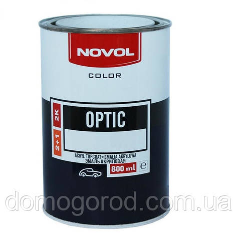 464 Небесный  NOVOL Optic Автоэмаль акриловая 2K 0.8л., фото 2