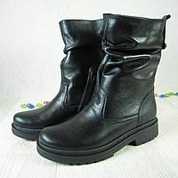 Ботинки из натуральной кожи флотар черного цвета