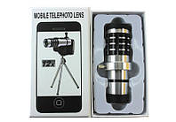 Съемный объектив для смартфона на штативе Mobile Telephoto Lens 12x zoom на телефон