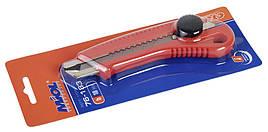 Нож с металлической направляющей, 18мм (с винтовым фиксатором)