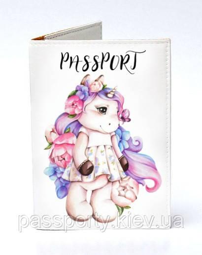 Обложка для паспорта Единорог