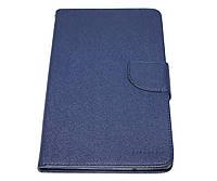 Чехол-книжка Goospery Canvas Dai для планшетного ПК Samsung Galaxy Tab 3 Lite (T110/T113/T116/), Dark Blue