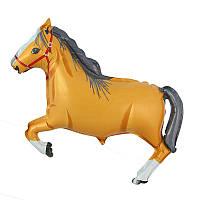 """Воздушный шарик фольгированный """"Конь коричневый""""  1  шт."""