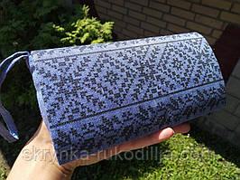 Готовий клатч під вишивку бісером чи нитками (льон 100%, колір синій джинс)