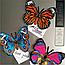 "Алмазная техника 145х105мм бабочка-магнит ""Желтые анютины глазки"", фото 3"