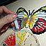 Алмазна техніка 145х110мм метелик-магніт «Голуб'янка Даніс (Danis Danis)», фото 4