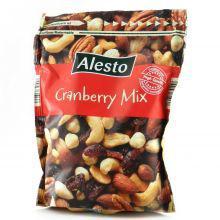 Alesto Nut & Cranberry Mix кешью, пекан, миндаль и клюква, 200 г.