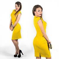 Платье женское короткое приталеное с украшением P10357, фото 1