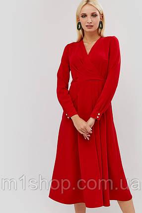 Приталенное расклешенное платье на запах (Tart crd), фото 2