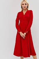Приталенное расклешенное платье на запах (Tart crd)