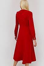 Приталенное расклешенное платье на запах (Tart crd), фото 3