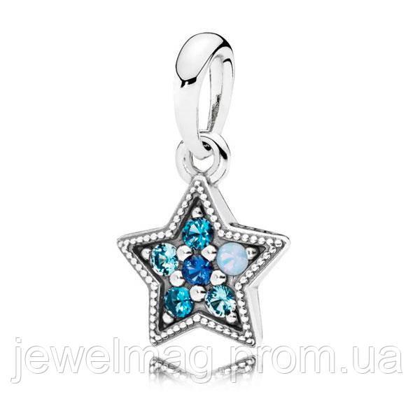Подвеска-шарм «Яркая звезда» из серебра 925 пробы