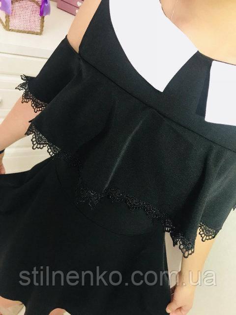 Элелегантное школьное платье с воротничком, р-ры: 134-164.