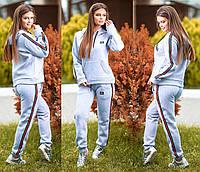 Женский спортивный костюм ткань трехнитка серый
