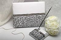 """Книга для пожеланий """"Luxury"""" (черный) и ручка для росписи"""