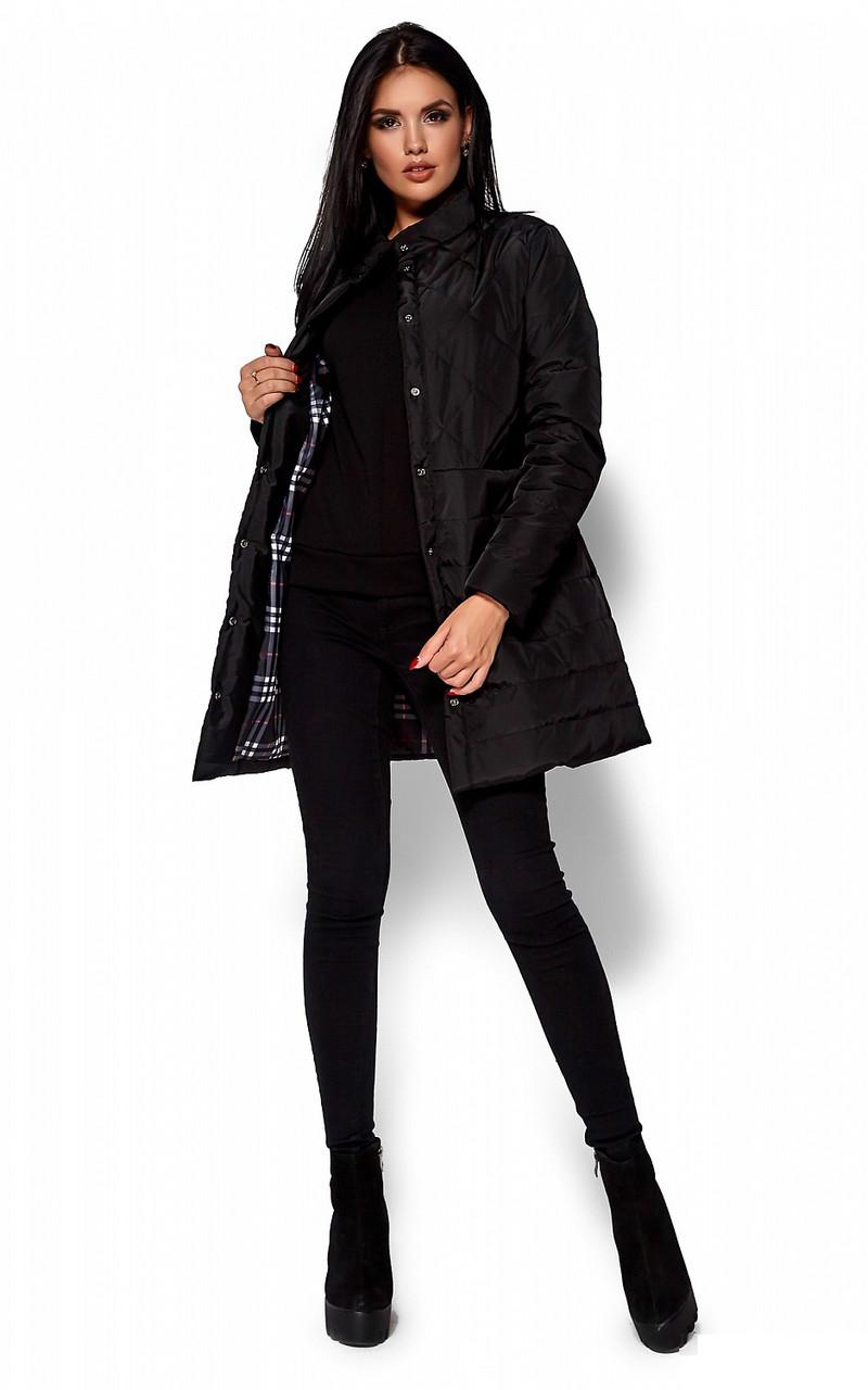 (S, M, L) Жіноча чорна куртка-пальто Peris