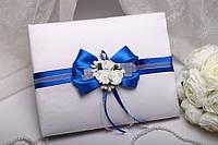 """Книга для пожеланий """"Bows"""" (синяя)"""