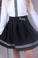 Стильна шкільна спідниця з бантом, р-ры:122-152., фото 1