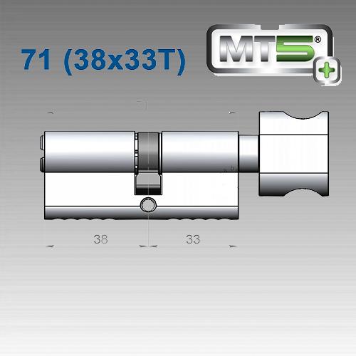 Цилиндр Mul-T-Lock MT5+ 71 мм (38x33T)